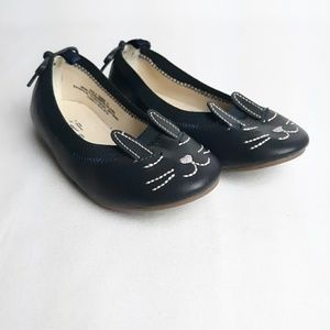 New Baby Gap Toddler Girl Navy Blue Bunny Shoes